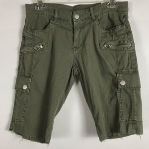BlankNYC Biker Cargo Shorts Army Green SZ 28 NWT